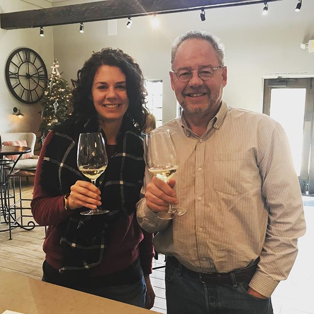 You know you live in wine country when the first stop after Dad gets off the plane is a winery. @ancientpeaks #pasowine #lovewhereilive #familytime #winetasting #christmas2017