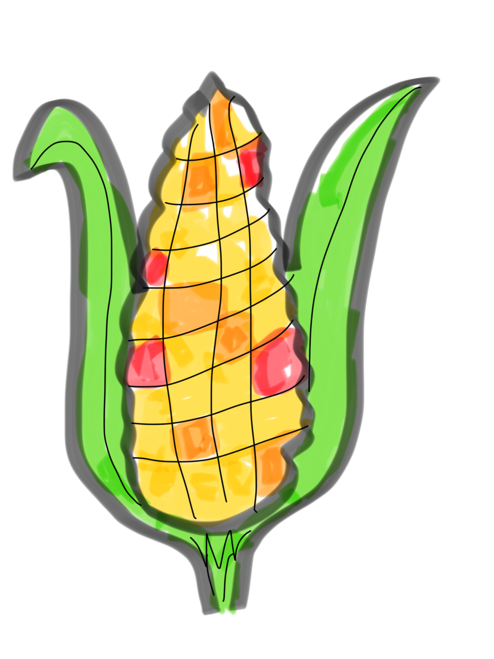 I drew you this corn!
