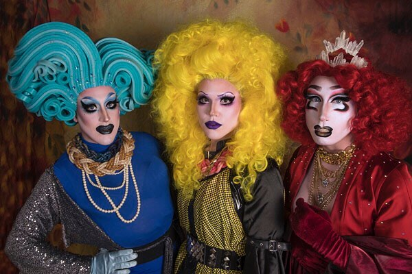 Just some wholesome, family-friendly drag for your Oscar consideration. 📷 by @cooperadooper #lipstick #lashes #portrait#portraitphotography#photography#instahair#wig#dragqueensofinstagram #inspiration #draghair #dragwig #lacefront #bighair #bighairdontcare #hairstylist #sadhaus #redhair #yellowhair #bluehair Fashions and hairs by @stolenfromyolo and @foampruikenenhoeden