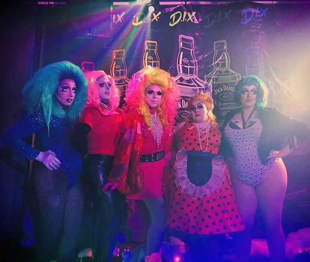 Lonely hearts club, assemble. Thanks to @d.i.x._milwaukee for having us once again, and to @jodazzles and @divinetrashofficial for playing along with us! #sadhaus #drag #theatre #nightlife #trio #chicago #milwaukee #milwaukeedrag #chicagodrag #looks #instadrag #instagay #bighair