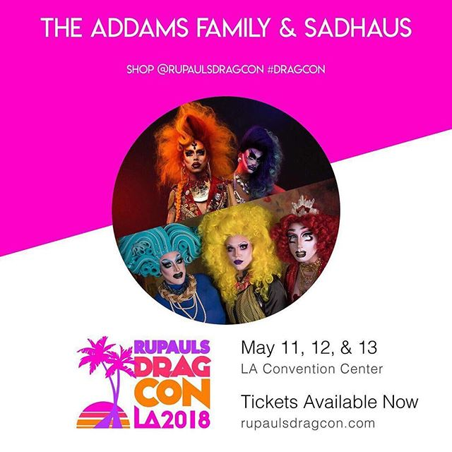It's HAPPENING, kids! Come find us at @rupaulsdragcon this May with @discordaddams and @gidgetvonaddams. We'll have a cute photo booth, plus fashion and hair from @stolenfromyolo and nail gloves and lashes handmade by @thedragquinn. #dragcon #dragqueen #dragrace #rupaul #rupaulsdragrace #la #chicago