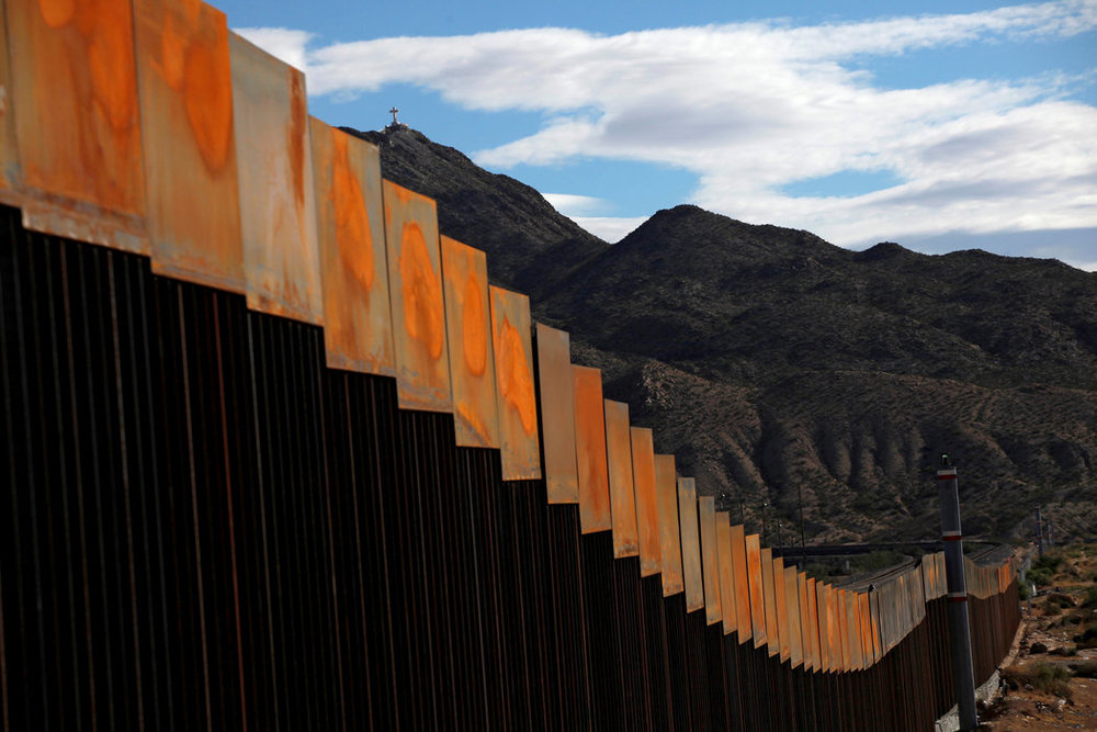 A general view shows a newly built section of the U.S.-Mexico border wall at Sunland Park, U.S. opposite the Mexican border city of Ciudad Juarez, Mexico, November 9, 2016.