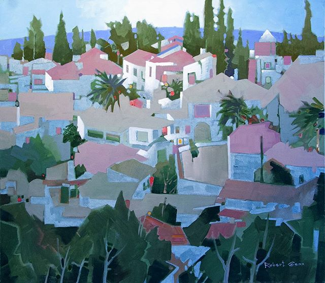 Linares de la Sierra, 30 x 34 inches, acrylic on canvas, 1999 @ch_gallery #robertgenn #canadianart