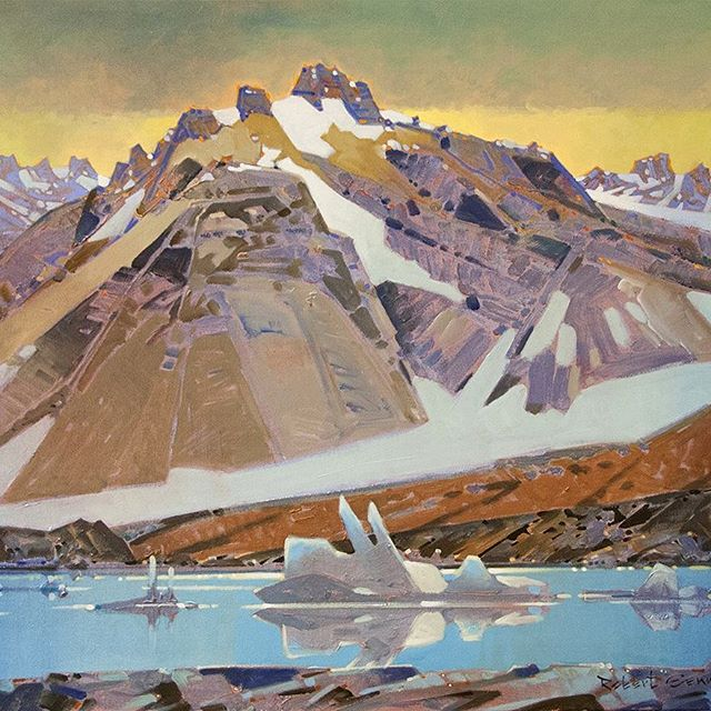 Above Berg Lake, 30 x 34 inches, acrylic on canvas @ch_gallery #robertgenn #canadianart