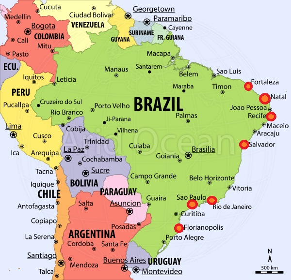 Brazil - Page 14 Map+hotel+cities+of+brazil+for+book