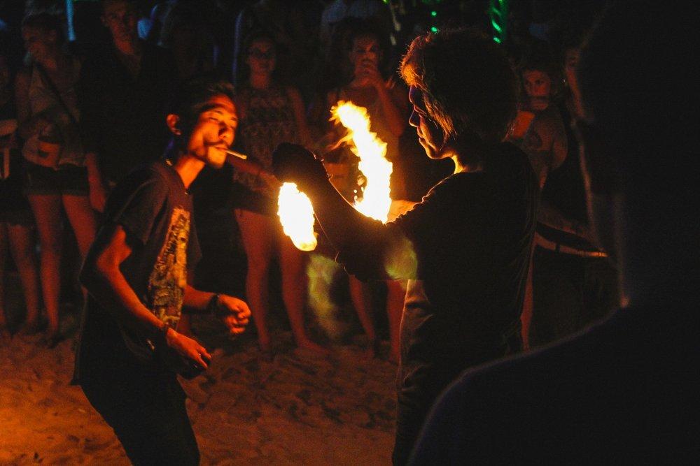 Fire poi in Koh Samui