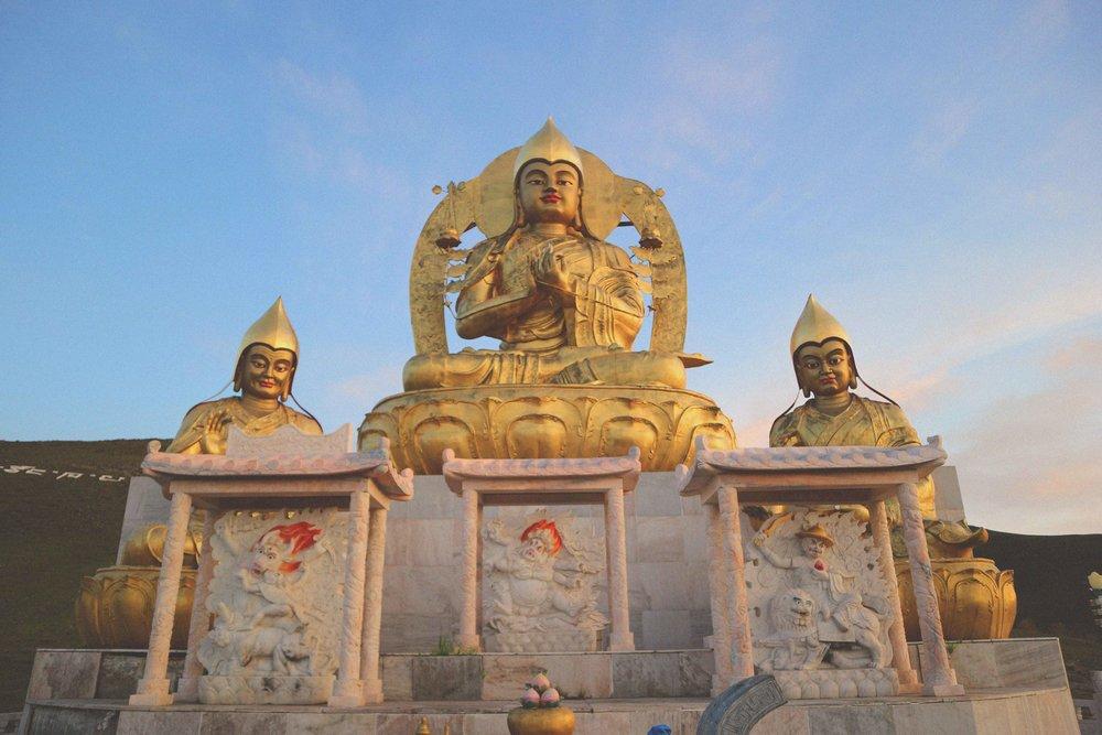 Buddha's above Amarbayasgalant Monastery