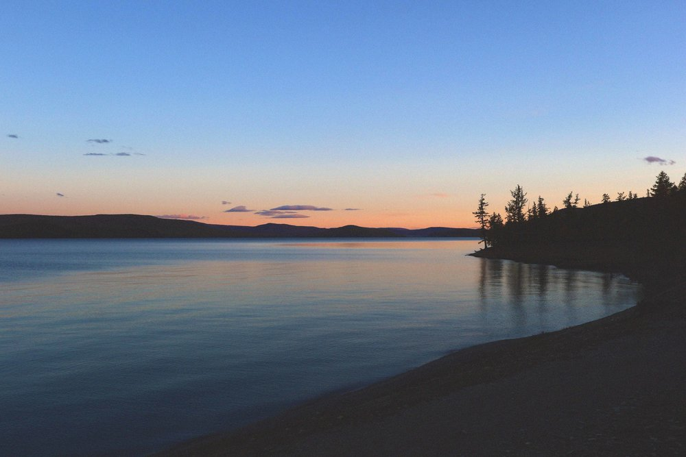Sunset on Khovsgol Lake