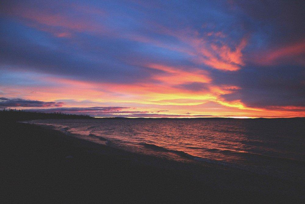 Sunrise at Lake Khovsgul