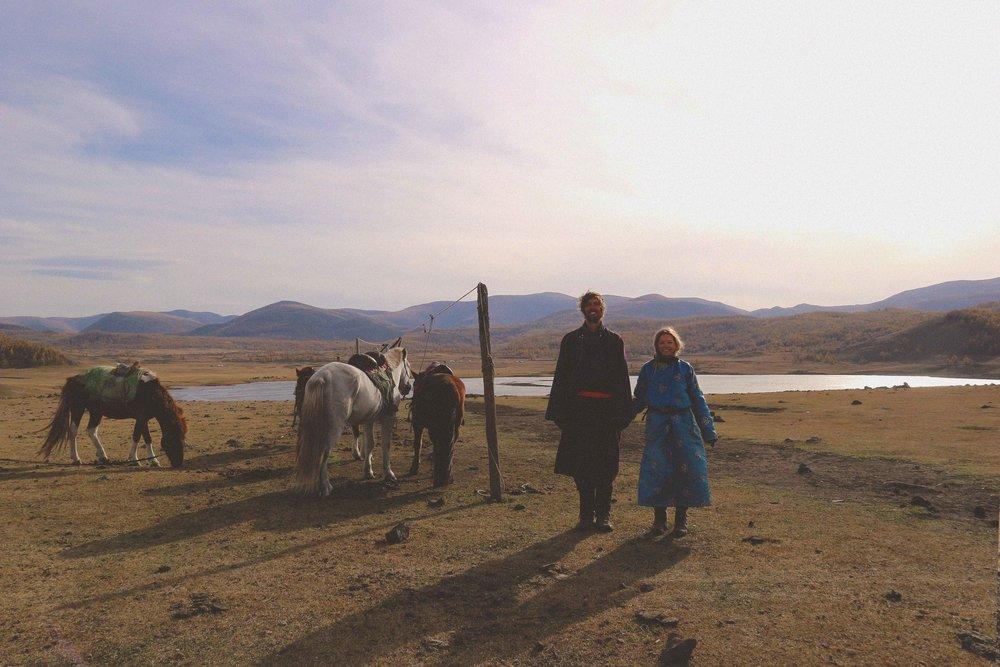 Mali in full Mongolian dress
