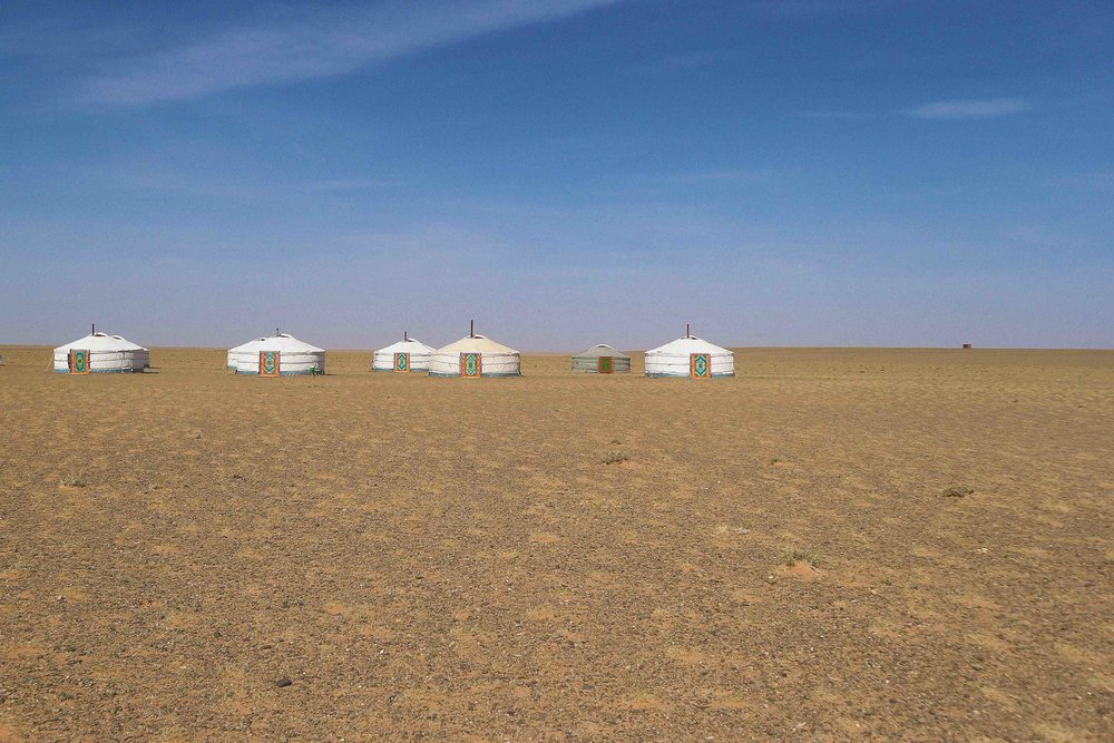 A guesthouse in the Gobi desert