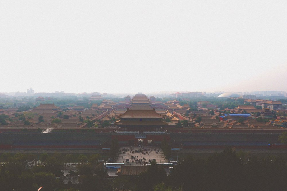 The view over the Forbidden City in Jingshan Park