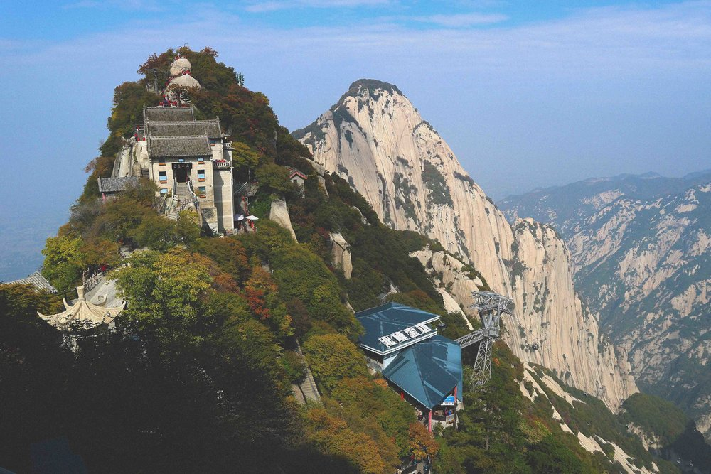 The view at the top of Huashan mountain