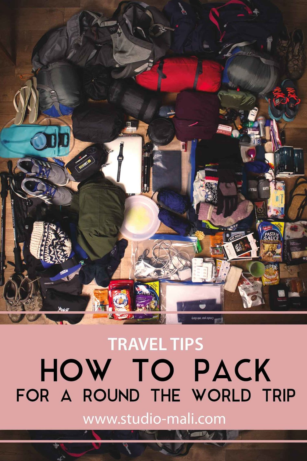 How To Pack For A Round The World Trip, by Studio Mali