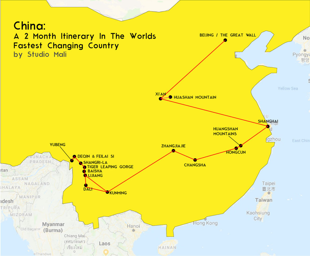 China: 2 month itinerary in the worlds fastest changing country