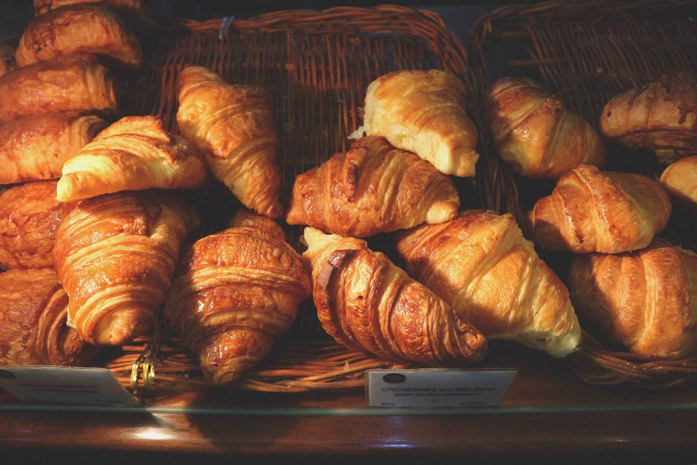 Croissants in Le Banneton French cafe