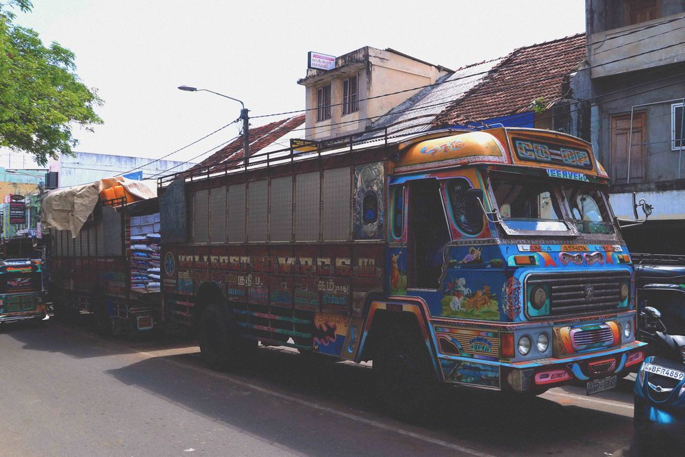 Wood clad trucker