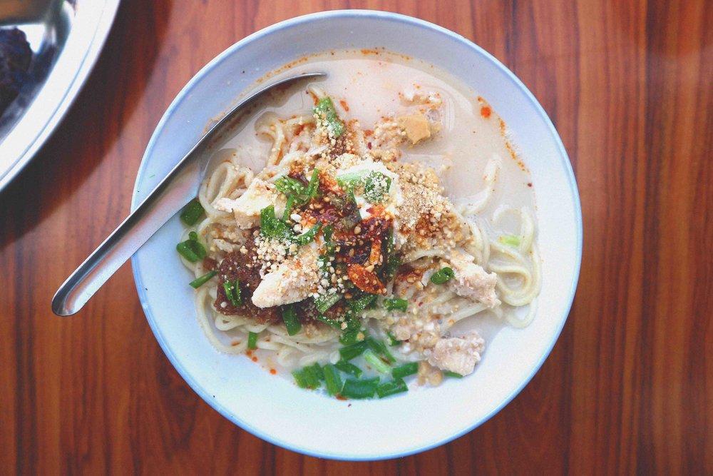 700 Kyat / 37p Shan noodles at Parami