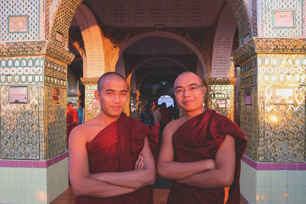 Monks on Mandalay Hill