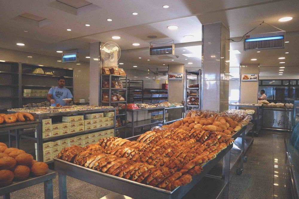 Stock up in the bakery on I Yarmouk in Madaba