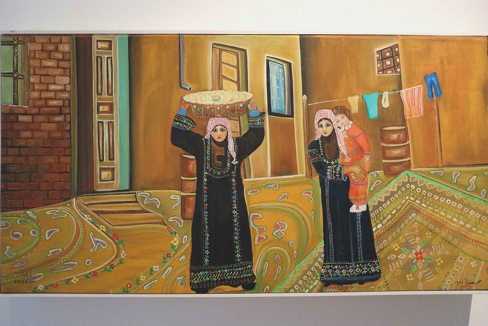 Contemporary artworks in the Jordan National Gallery Of Fine Arts