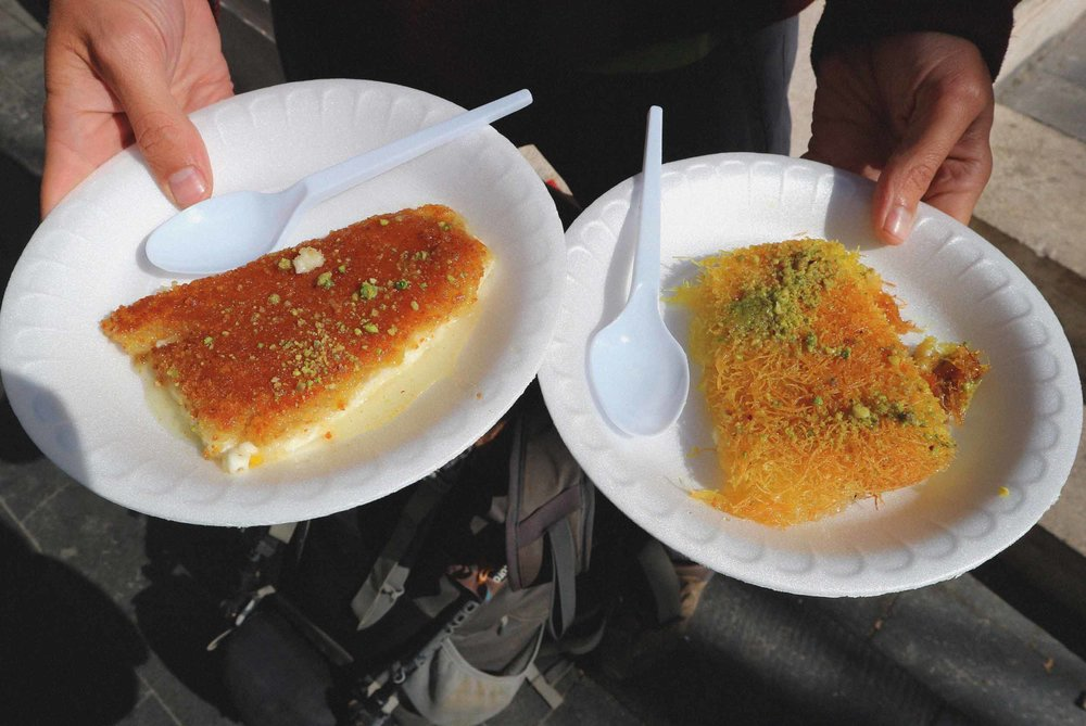 Yum yum yum! The gooey cheesy and sweet kunafa