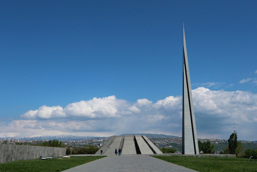 The stark genocide memorial sculpture