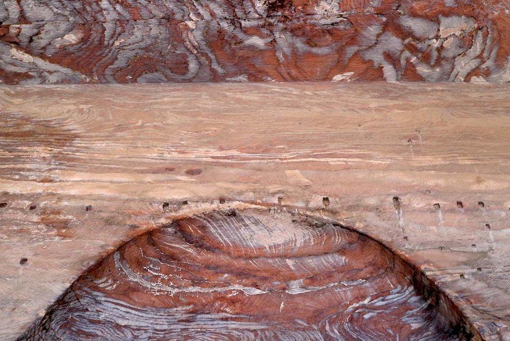 Jordan, Petra - layered coloured sand pattern