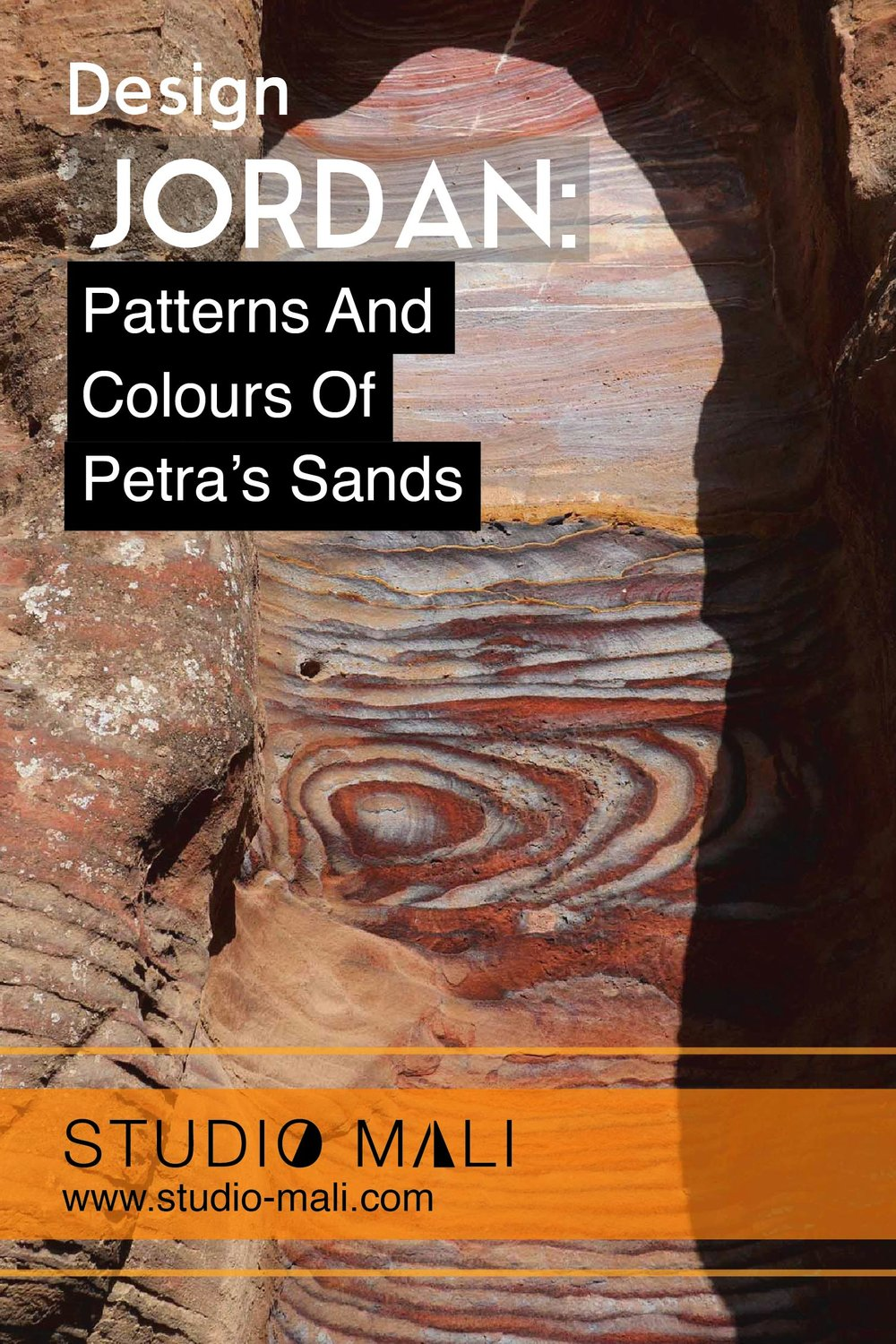 Jordan - Patterns And Colour In Petra's Sands, by Studio Mali
