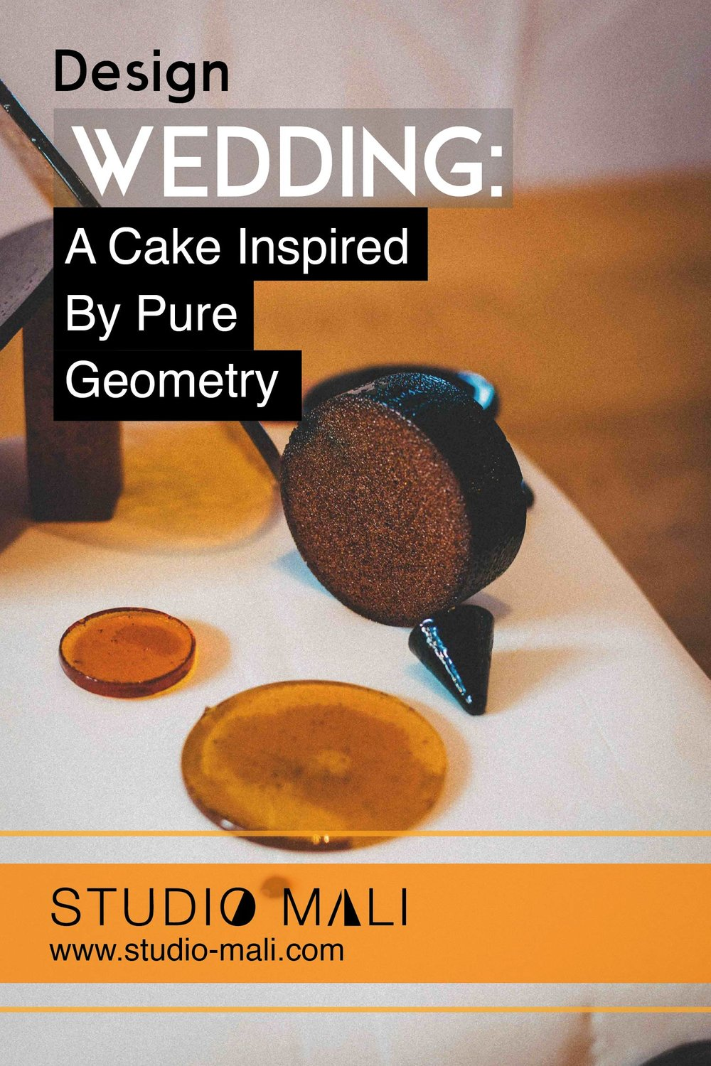 A Wedding Cake- Inspired by Pure Geometry, by Studio Mali