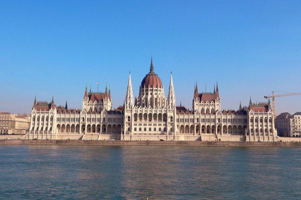 The epic Parliament building, as seen from the Buda side of the city