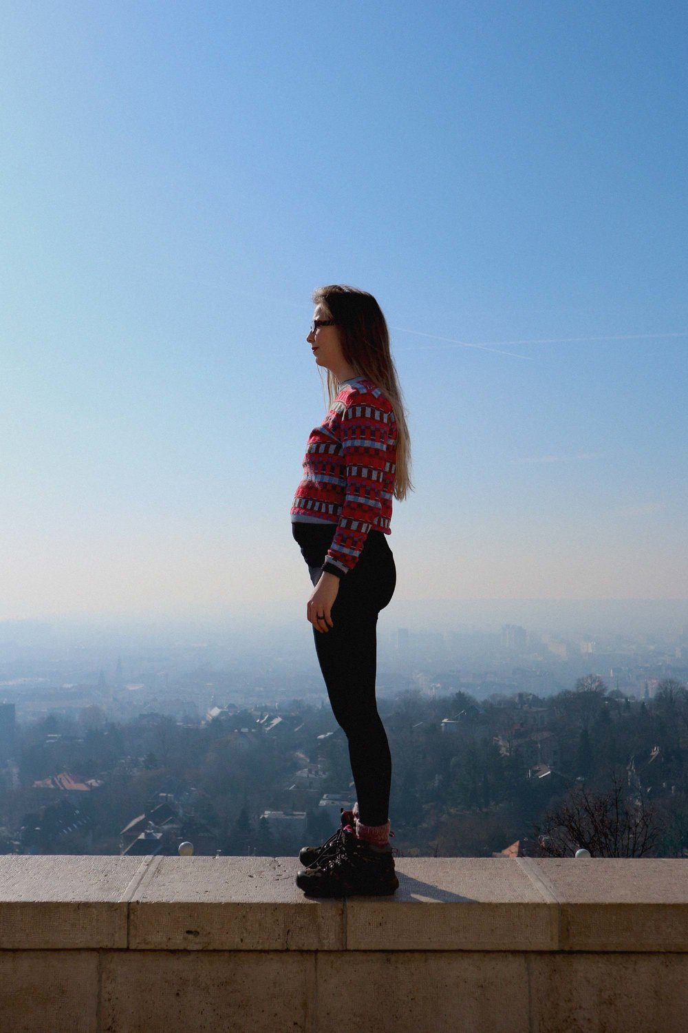 Me and my bump at the top of the Citadel viewing platform