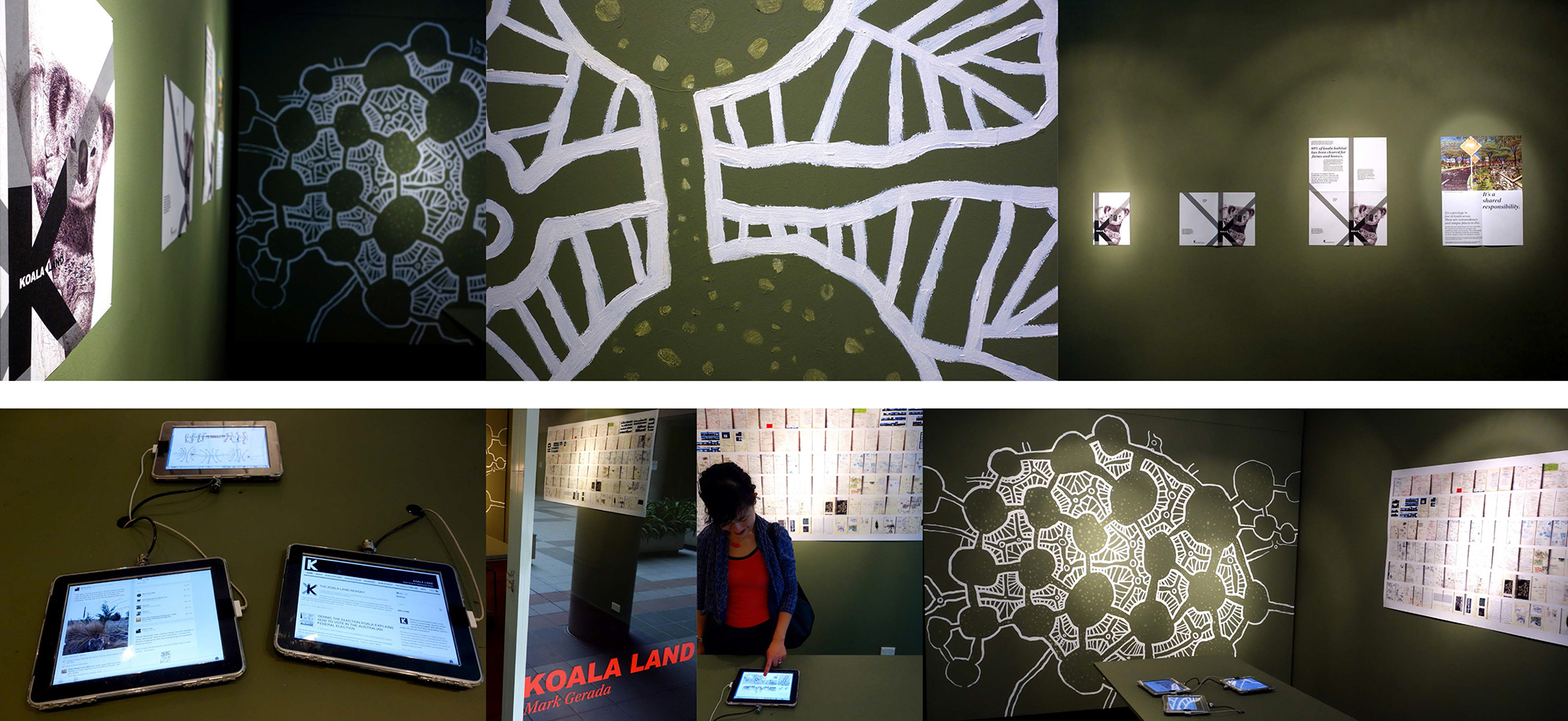 koalaland exhibition at UTS DAB LAB