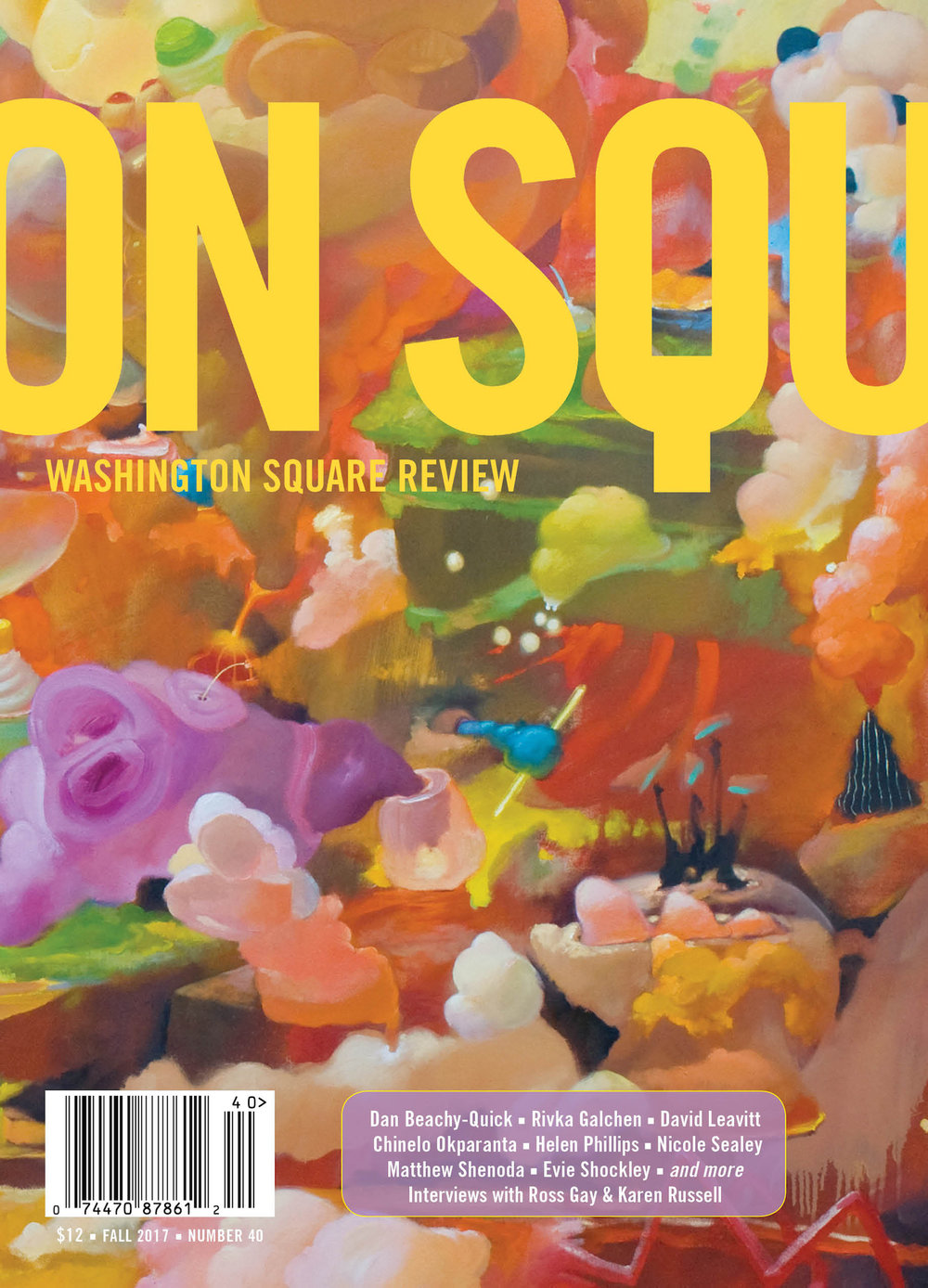 'book of VIII' | Washington Square Review. Spring 2018.
