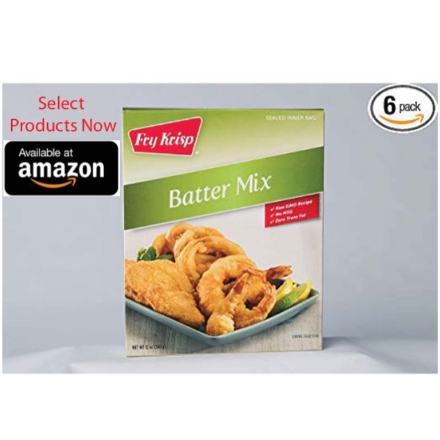 Select products now available on Amazon! . . #FryKrisp #FryDay #battermix #coatingmix #jacksonmichigan #foodservice #delivery #food #allnaturalingredients #allnatural #nongmo #nomsg #zerotransfat #amazon