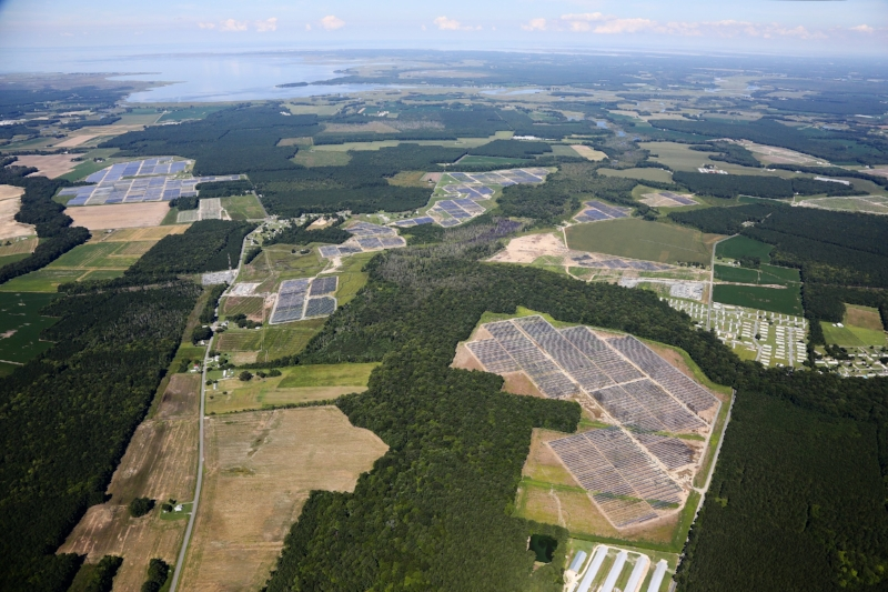 The 80 megawatt Amazon Solar Farm in  Accomack County, VA, will generate an impressive 171,000 megawatt-hours of electricity per year, which is enough to power 15,000 homes. Read more about it  here .