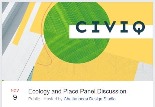 The CIVIQ event, moderated by Mark McKnight with the Chattanooga Design Studio.