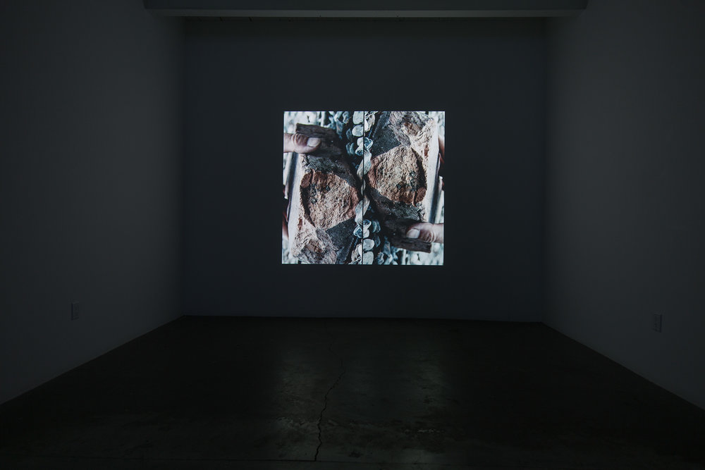 DISSOLUTION 4 2015 VIDEO PROJECTION, 6 X 6 FEET , 30 MIN. INSTALLATION VIEW DIAZ CONTEMPORARY, 2015