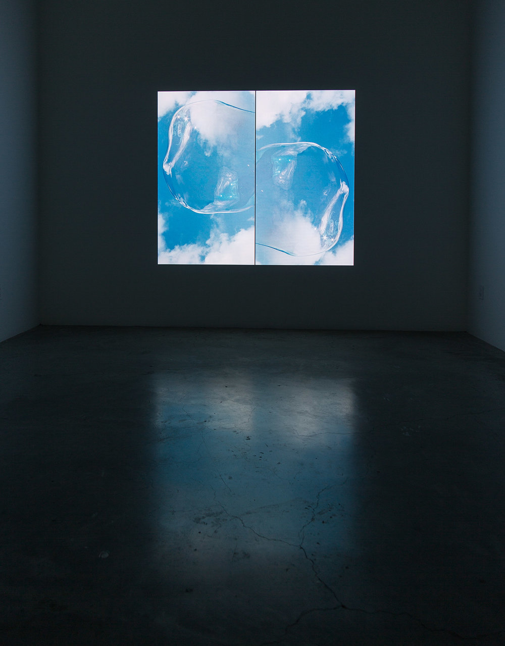 DISSOLUTION 1 2015 VIDEO PROJECTION, 6 X 6 FEET , 30 MIN. INSTALLATION VIEW DIAZ CONTEMPORARY, 2015