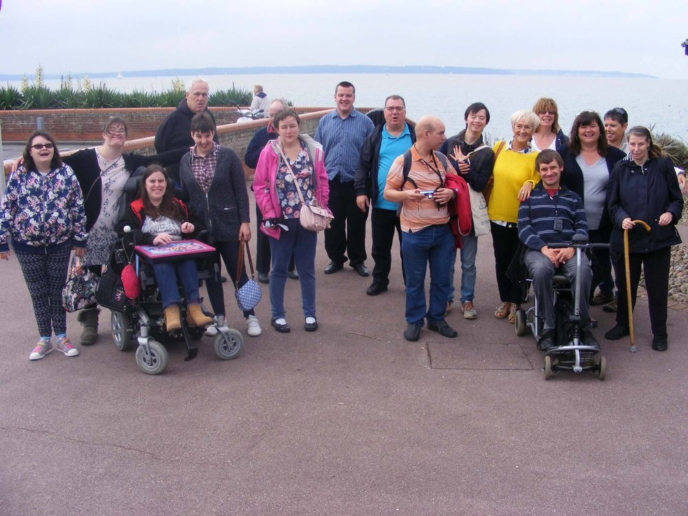 Some of us at the seaside at Lee on Solent in 2016.