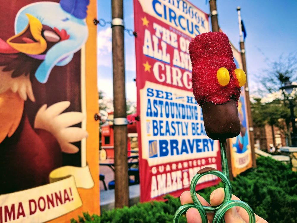 Big Top Treats is located inside the Big Top Souvenir shop in the Storybook Circus Area of Magic Kingdom.