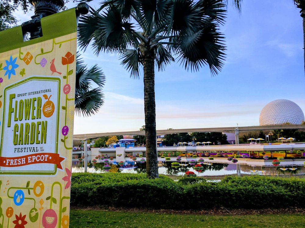 The Berry Basket has the perfect picture taking view of Fresh Epcot!