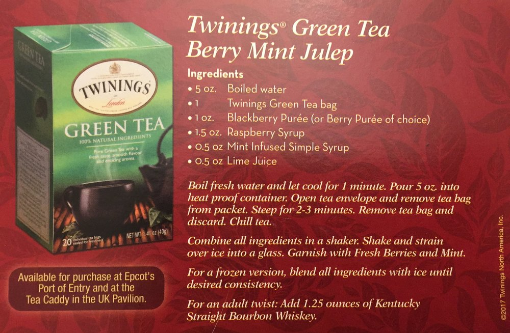 Green Tea Berry Mint Julep Recipe. Click on the picture to see a larger version the recipe .
