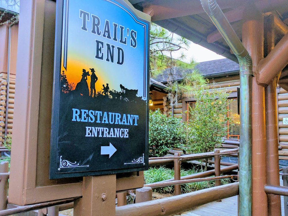 Trail's End is located at Ft. Wilderness near the Settlement area (near the boat dock to Magic Kingdom).