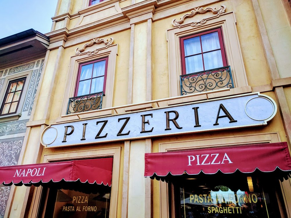 Via Napoli is located in Epcot's World Showcase at the back of the Italy Pavilion.