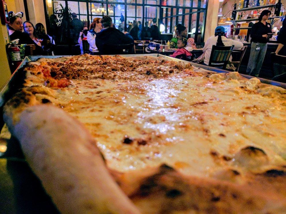 Half Quattro Formaggi- Half Piccante Mezzo Metro Pizza