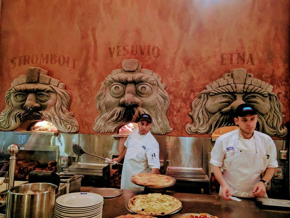 Stromboli, Vesuvio, and Etna Wood-Fired Pizza Ovens.