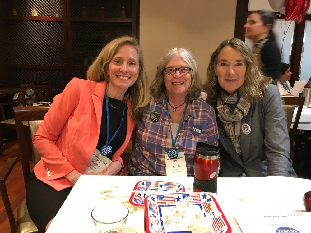 With Abigail Spanberger and Leslie Cockburn at the VA Women's Forum