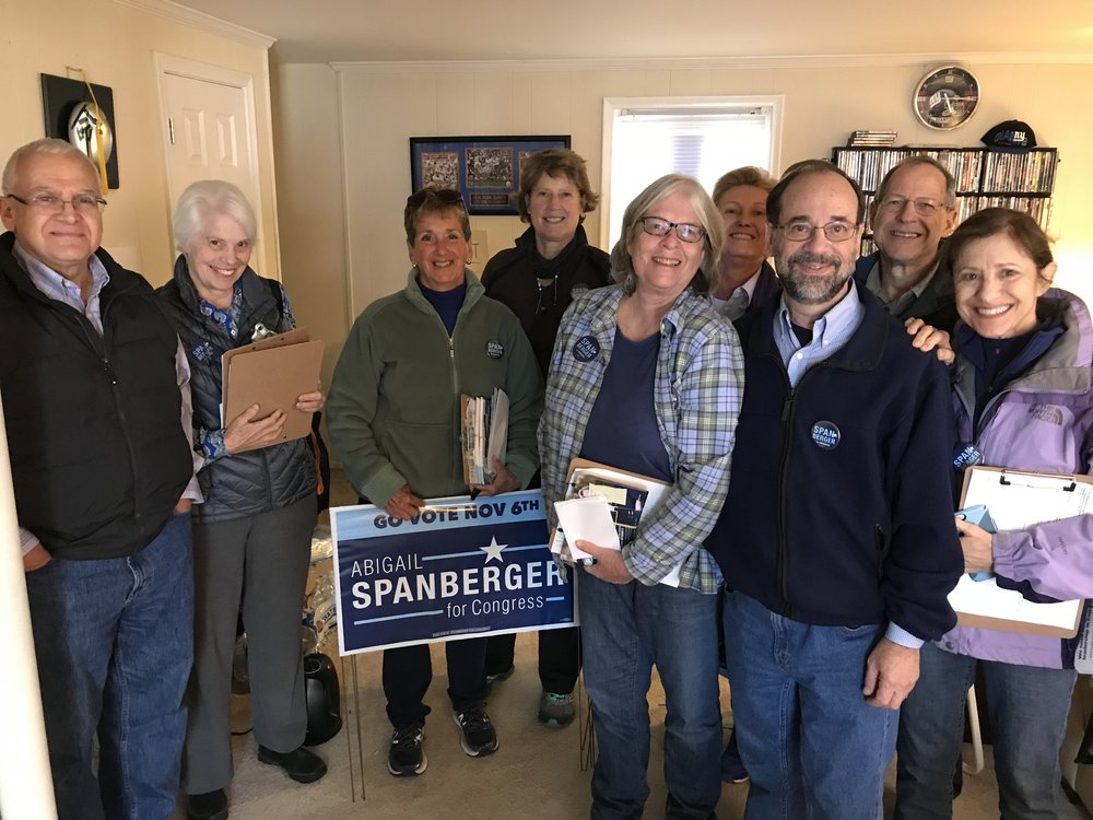 Canvassing for Abigail Spanberger, October 28, 2018