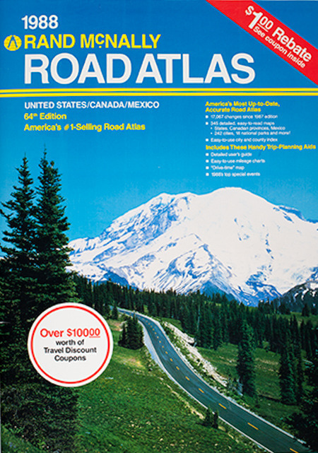 1988 Road Atlas, Rand McNally